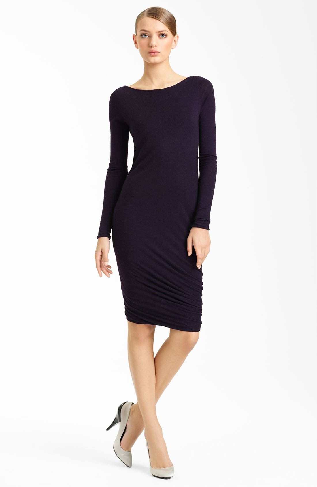 Alternate Image 1 Selected - Donna Karan Collection Twisted Hem Cashmere Dress