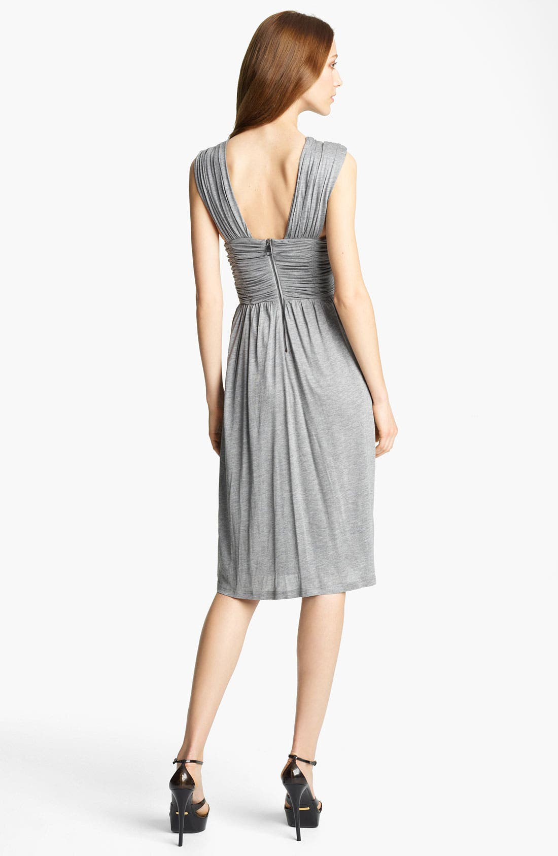 Alternate Image 2  - Burberry London V-Neck Jersey Dress