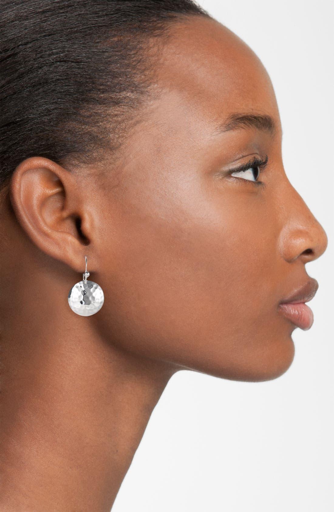 Alternate Image 2  - Ippolita Diamond & Hammered Dome Earrings