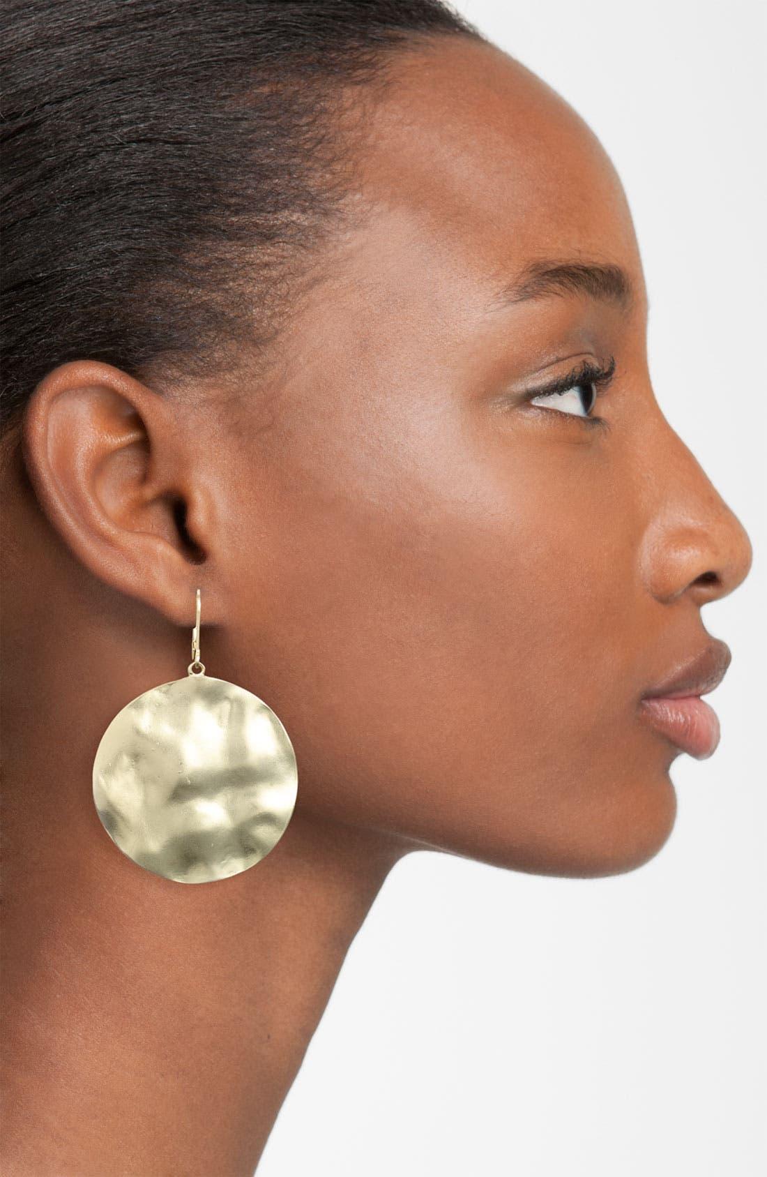 Alternate Image 2  - Nordstrom 'Gold Water' Large Disc Drop Earrings