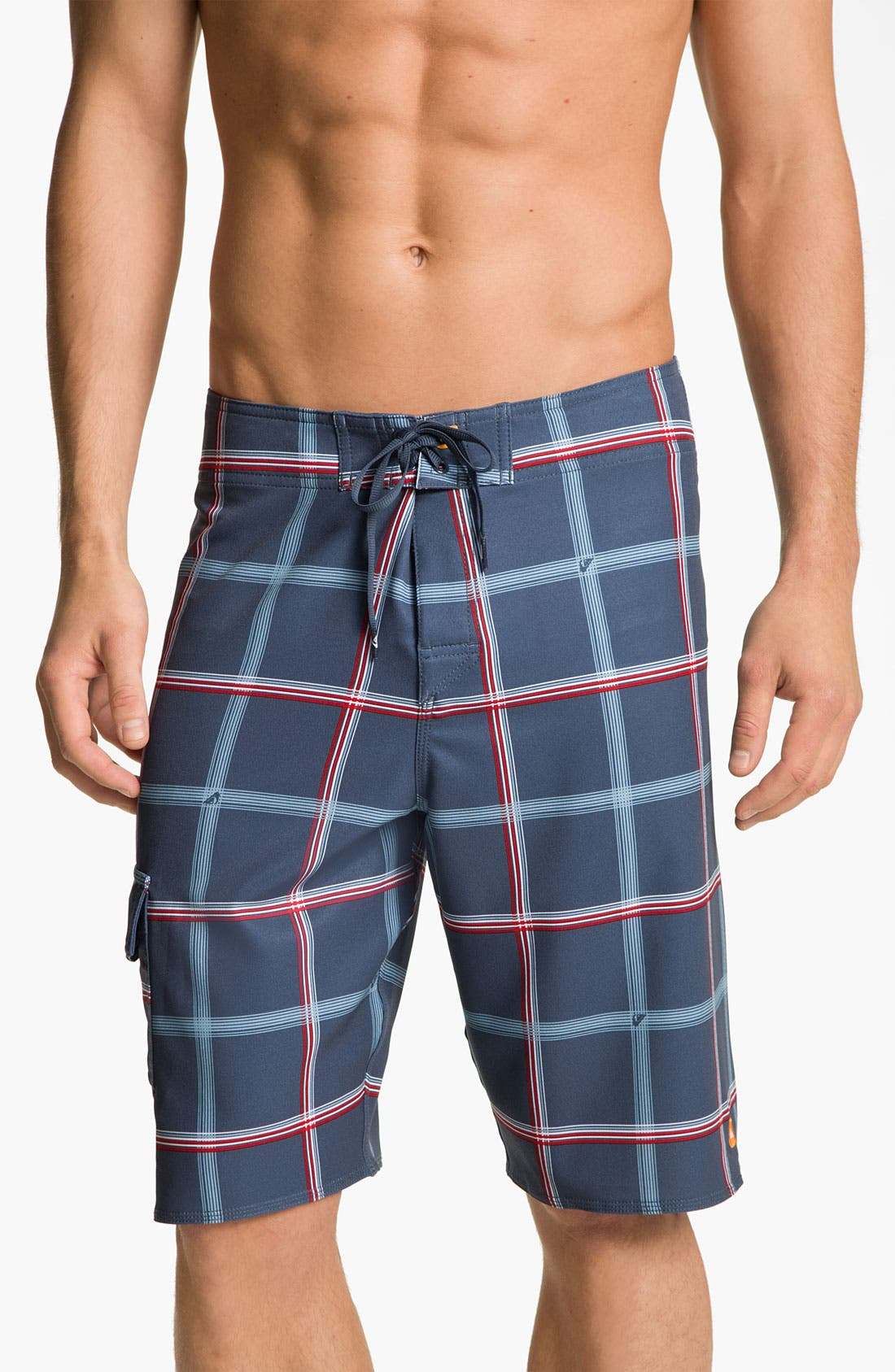 Alternate Image 1 Selected - Quiksilver Waterman 'Square Root' Diamond Dobby™ Board Shorts (Men)