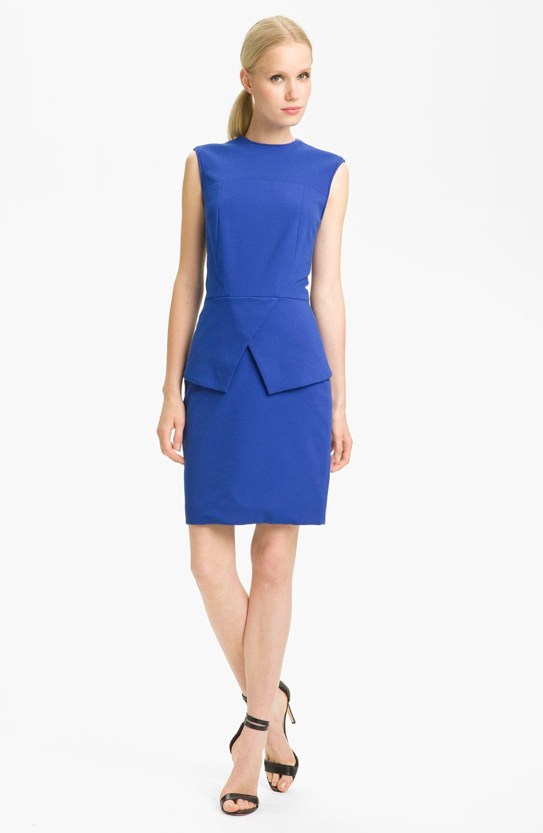Main Image - Tibi Peplum Ponte Dress