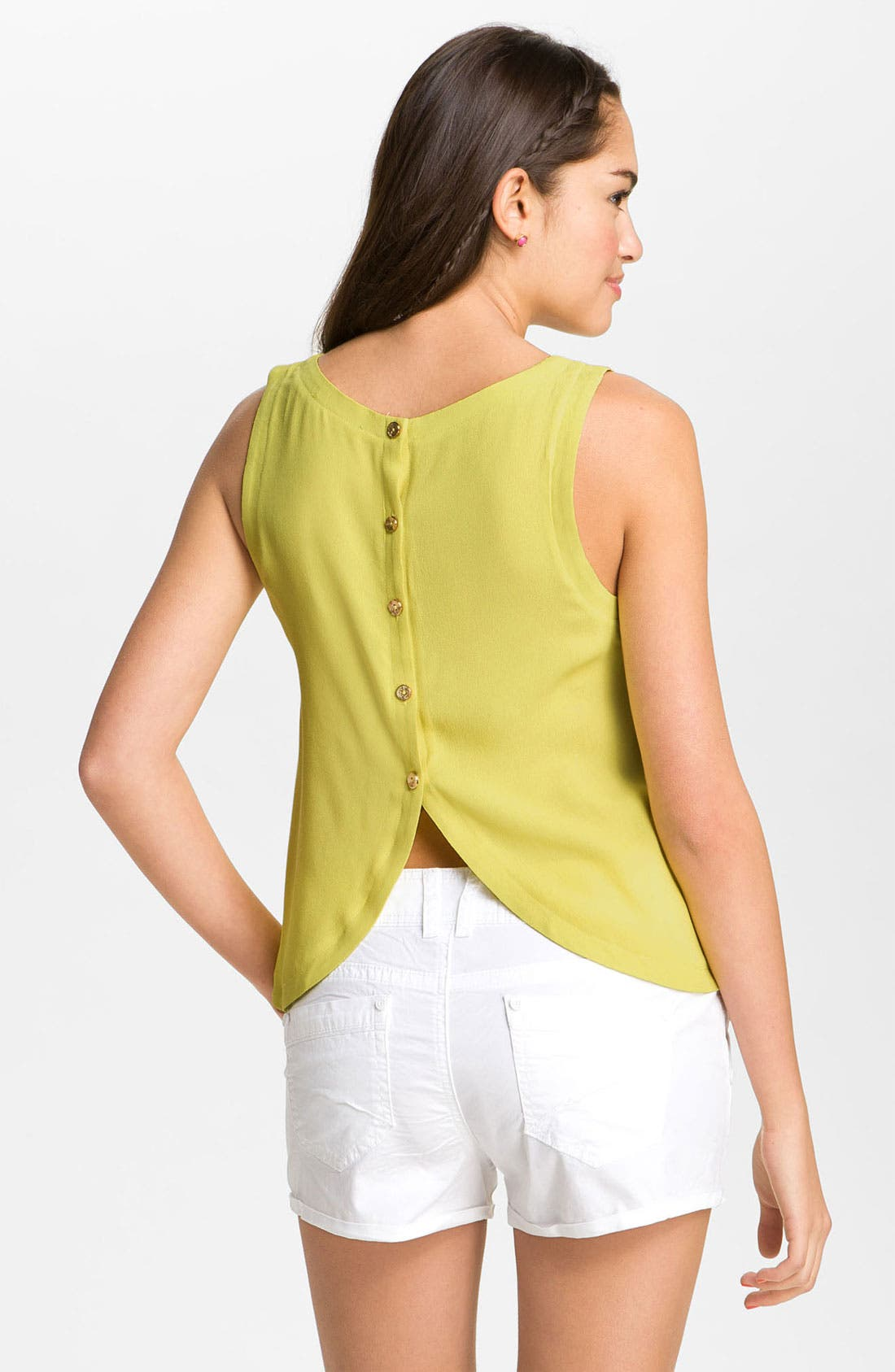 Alternate Image 2  - Lush Button Back Tank (Juniors)