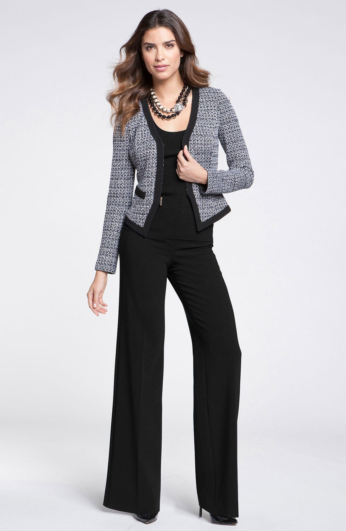Alternate Image 1 Selected - St. John Collection Tweed Jacket & Wide Leg Pants