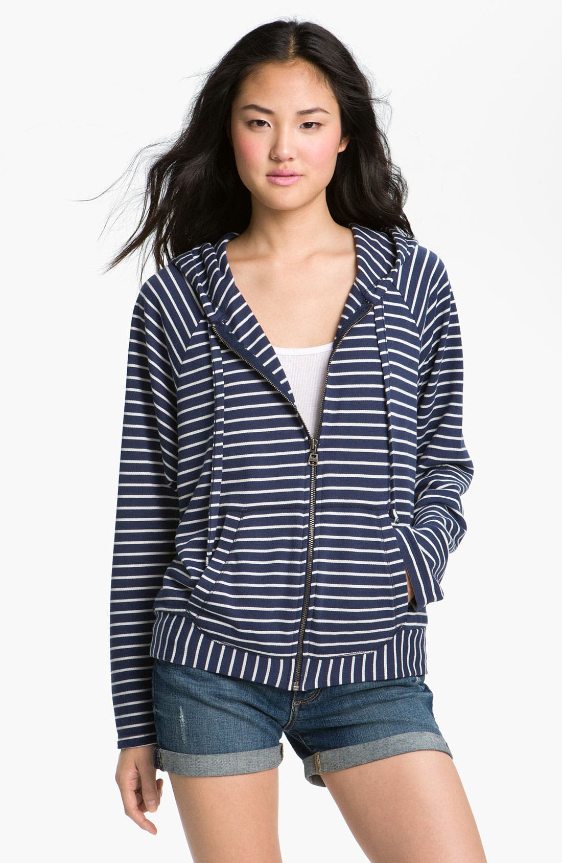 Alternate Image 1 Selected - Splendid Stripe Hoodie
