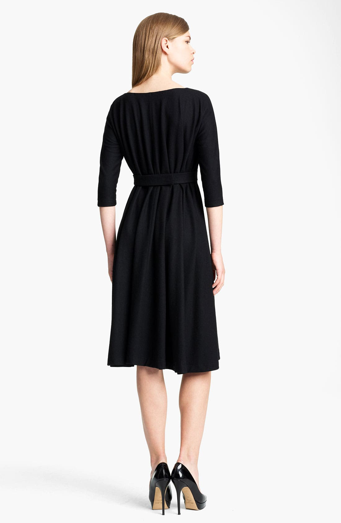 Alternate Image 2  - Jil Sander Belted Wool Jersey Dress