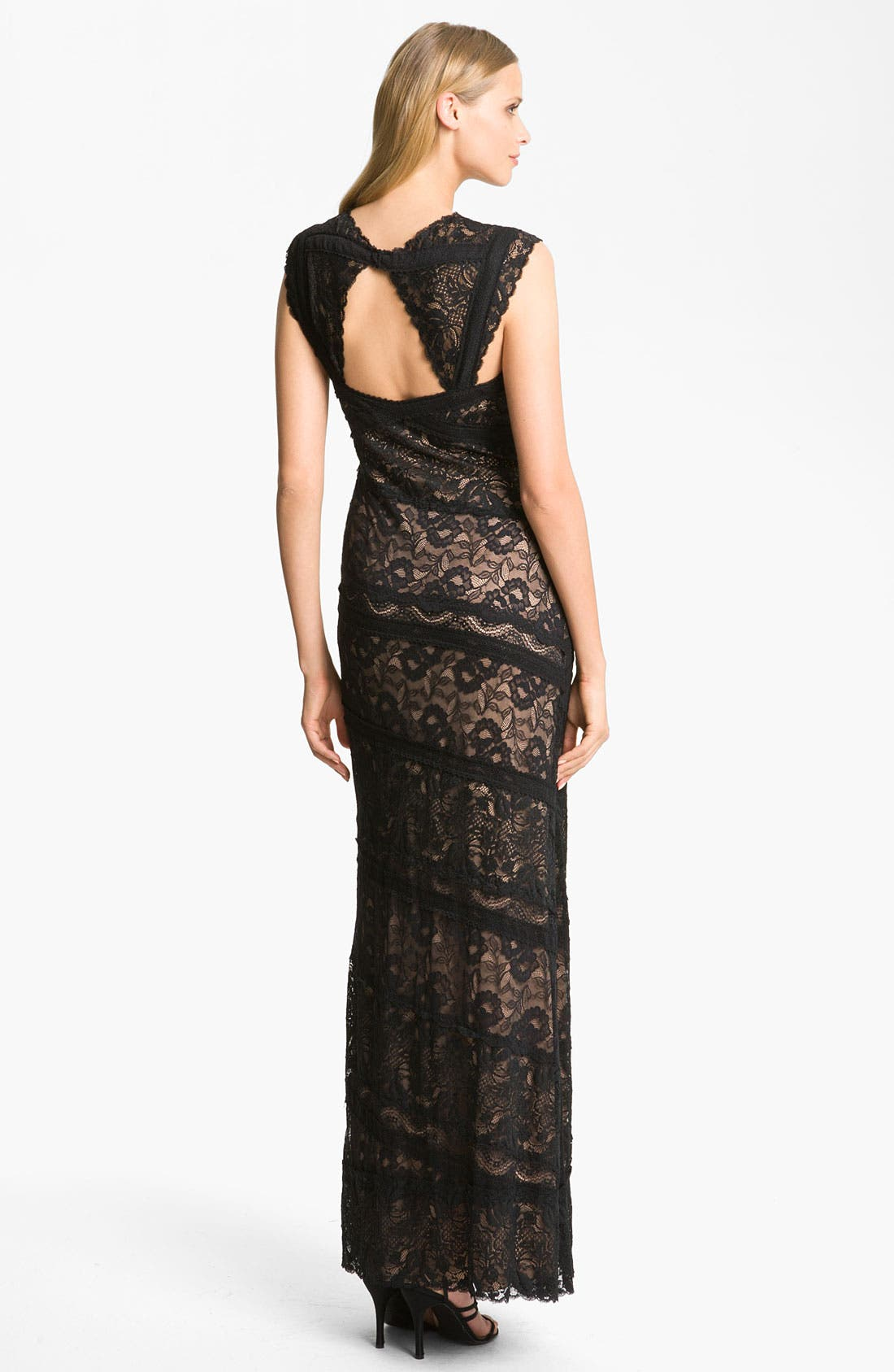 Alternate Image 2  - JS Collections Sweetheart Lace Panel Gown