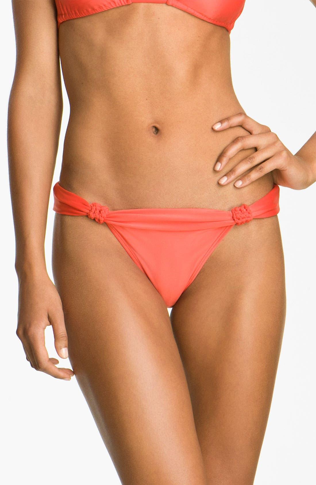 Main Image - ViX Swimwear Knot Detailed Bikini Bottoms
