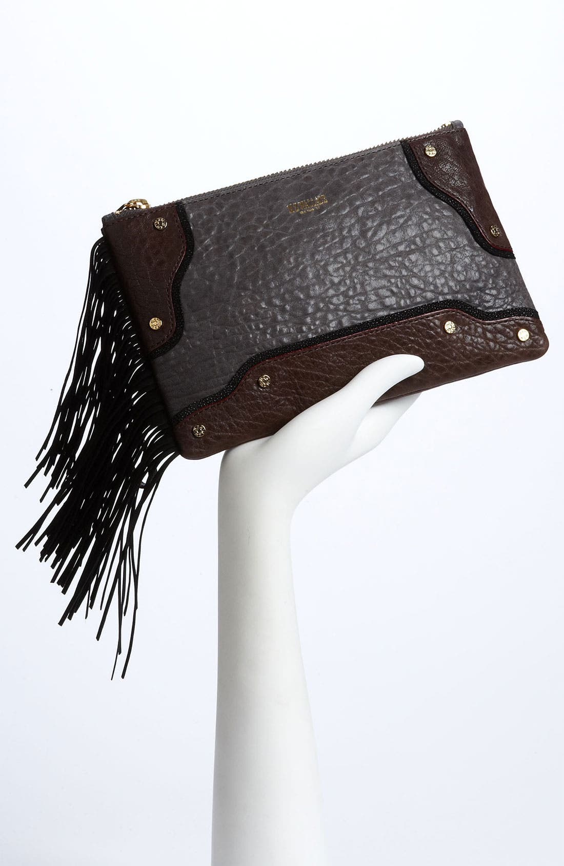 Alternate Image 2  - MZ Wallace 'Hamish' Mixed Leather Clutch