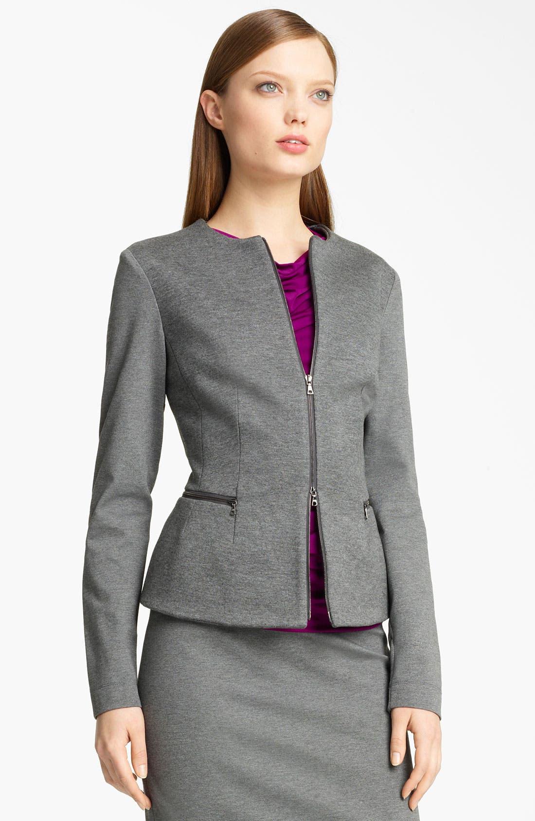 Alternate Image 1 Selected - Lida Baday Bonded Jersey Jacket