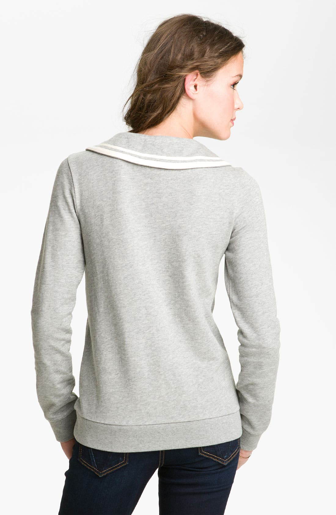 Alternate Image 2  - BP. Peter Pan Collar Sweatshirt (Juniors)
