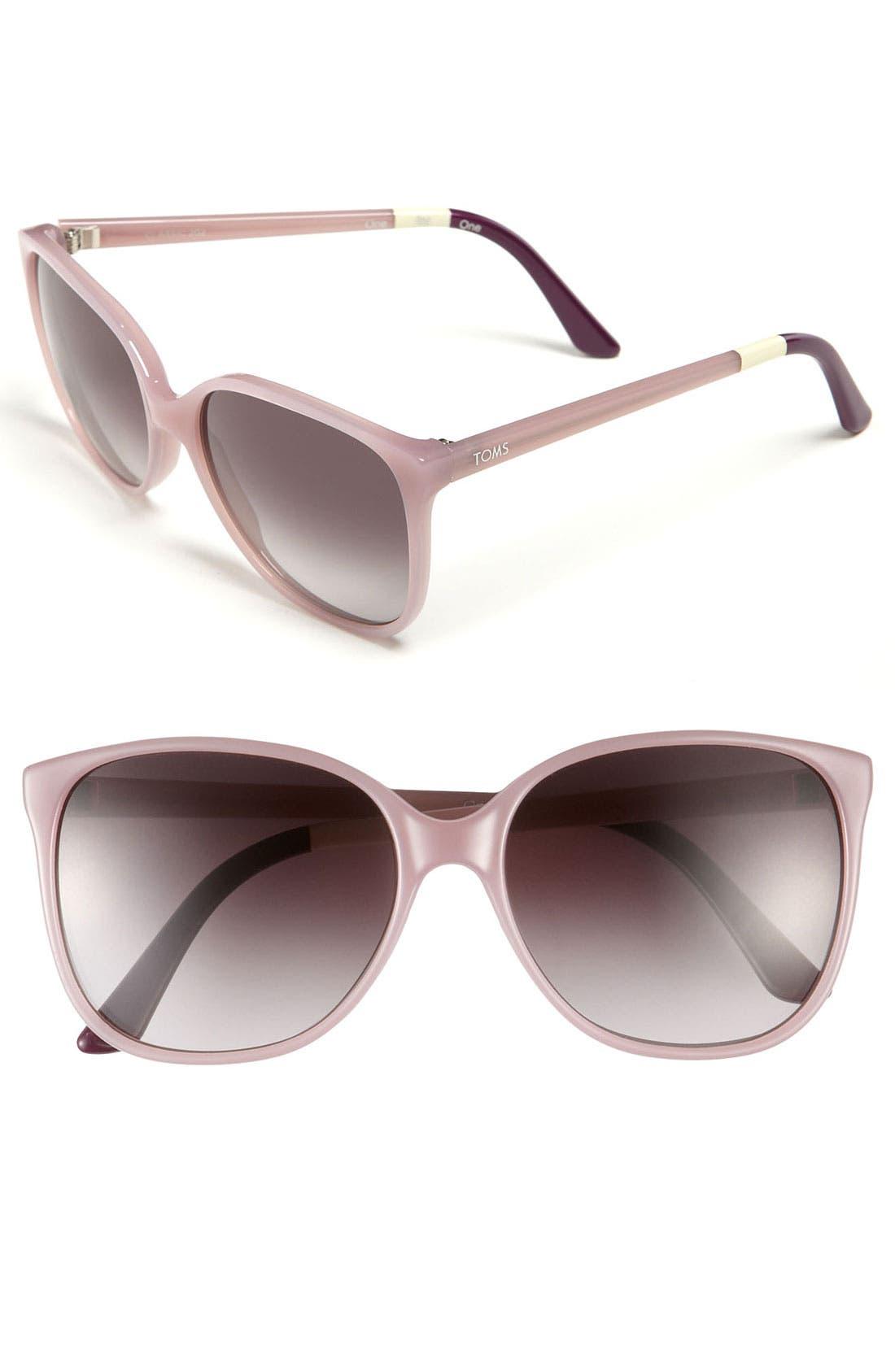 Main Image - TOMS 'Sandela' 57mm Sunglasses