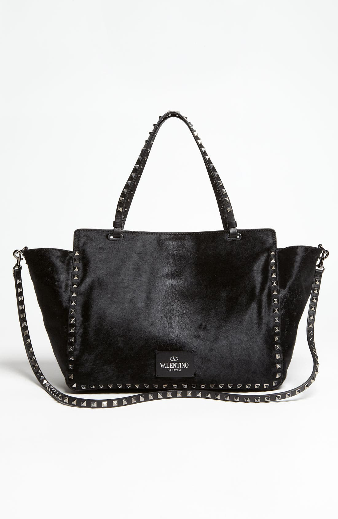 Alternate Image 4  - Valentino 'Rockstud - Noir' Calf Hair Shopper