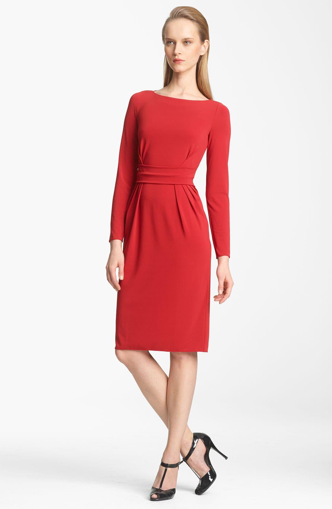 Main Image - Armani Collezioni Cutout Back Matte Jersey Dress