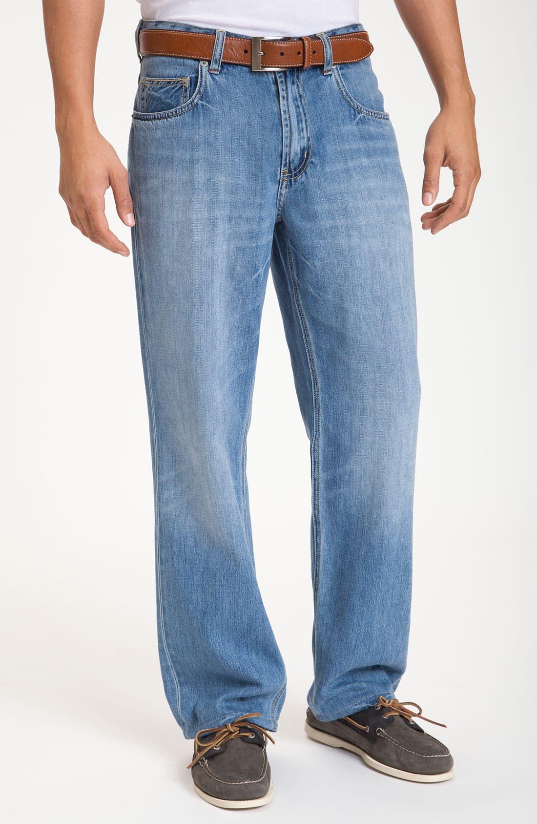 Main Image - Tommy Bahama Denim 'Island Ease' Straight Leg Jeans (Vintage Light)