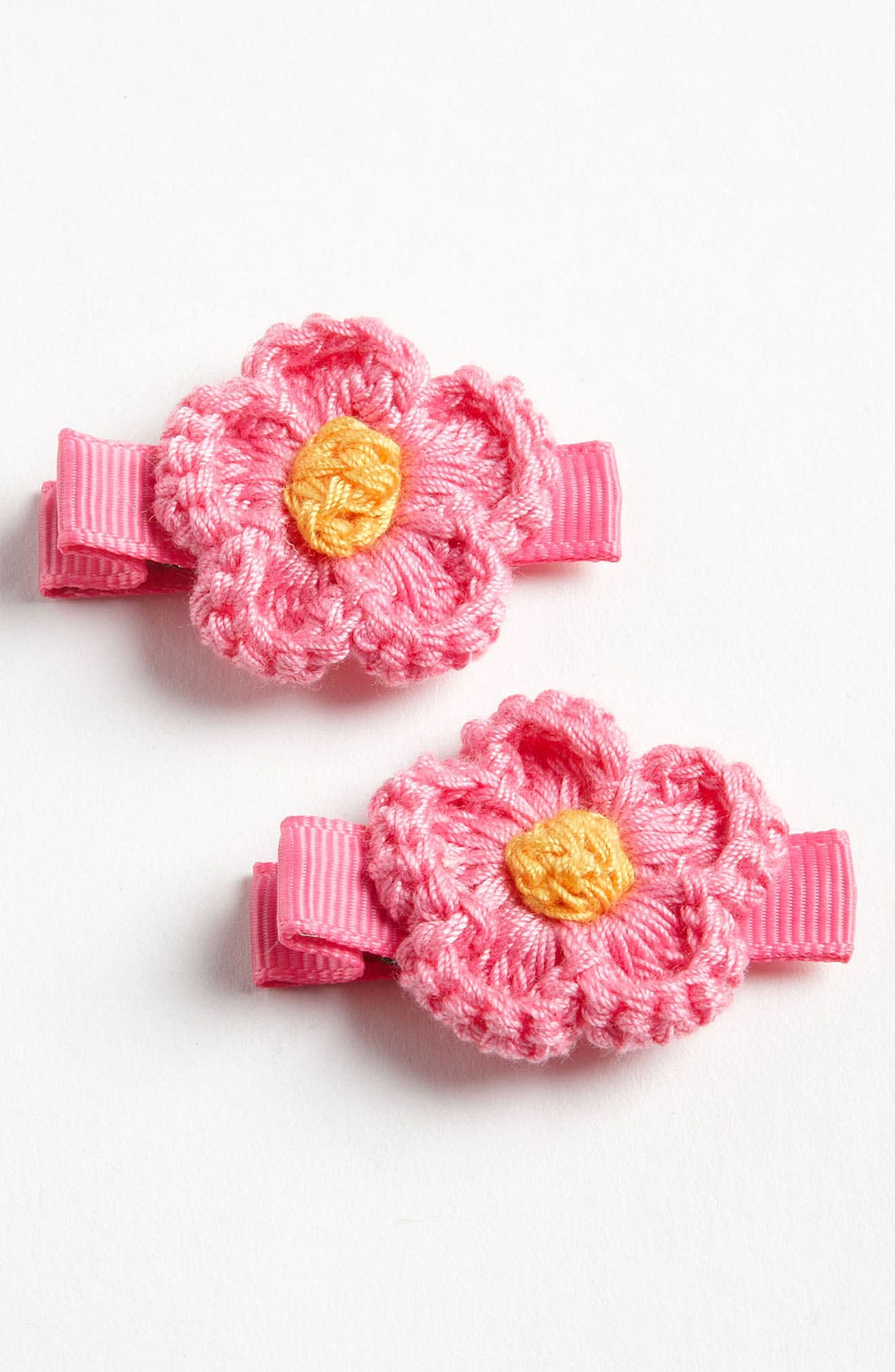 Main Image - PLH Bows & Laces 'Daisy' Clips (Set of 2) (Toddler)