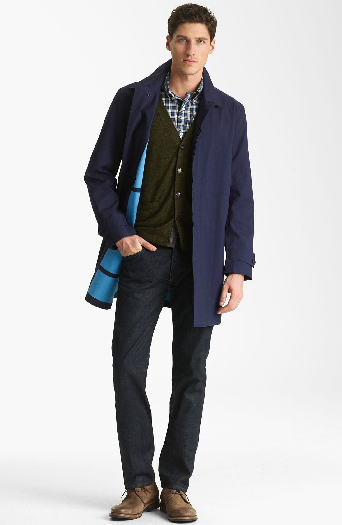 Alternate Image 4  - Jack Spade Bonded Raincoat