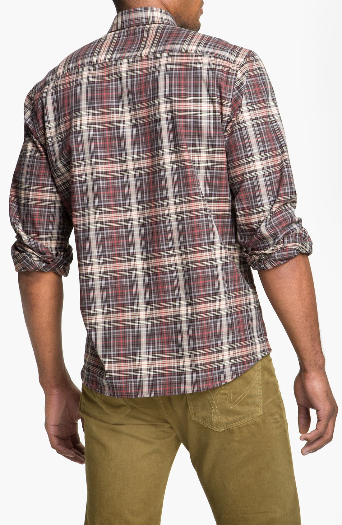 Alternate Image 2  - Cutter & Buck 'McCrea' Plaid Woven Shirt (Big & Tall)