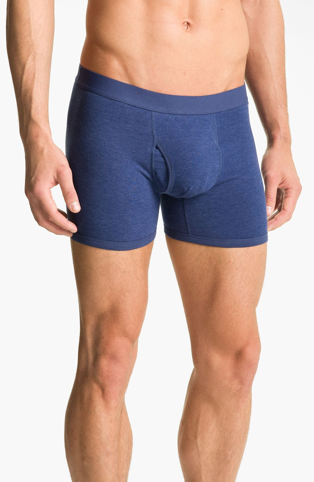 Alternate Image 4  - Basic Underwear Solid Boxer Briefs (3-Pack)