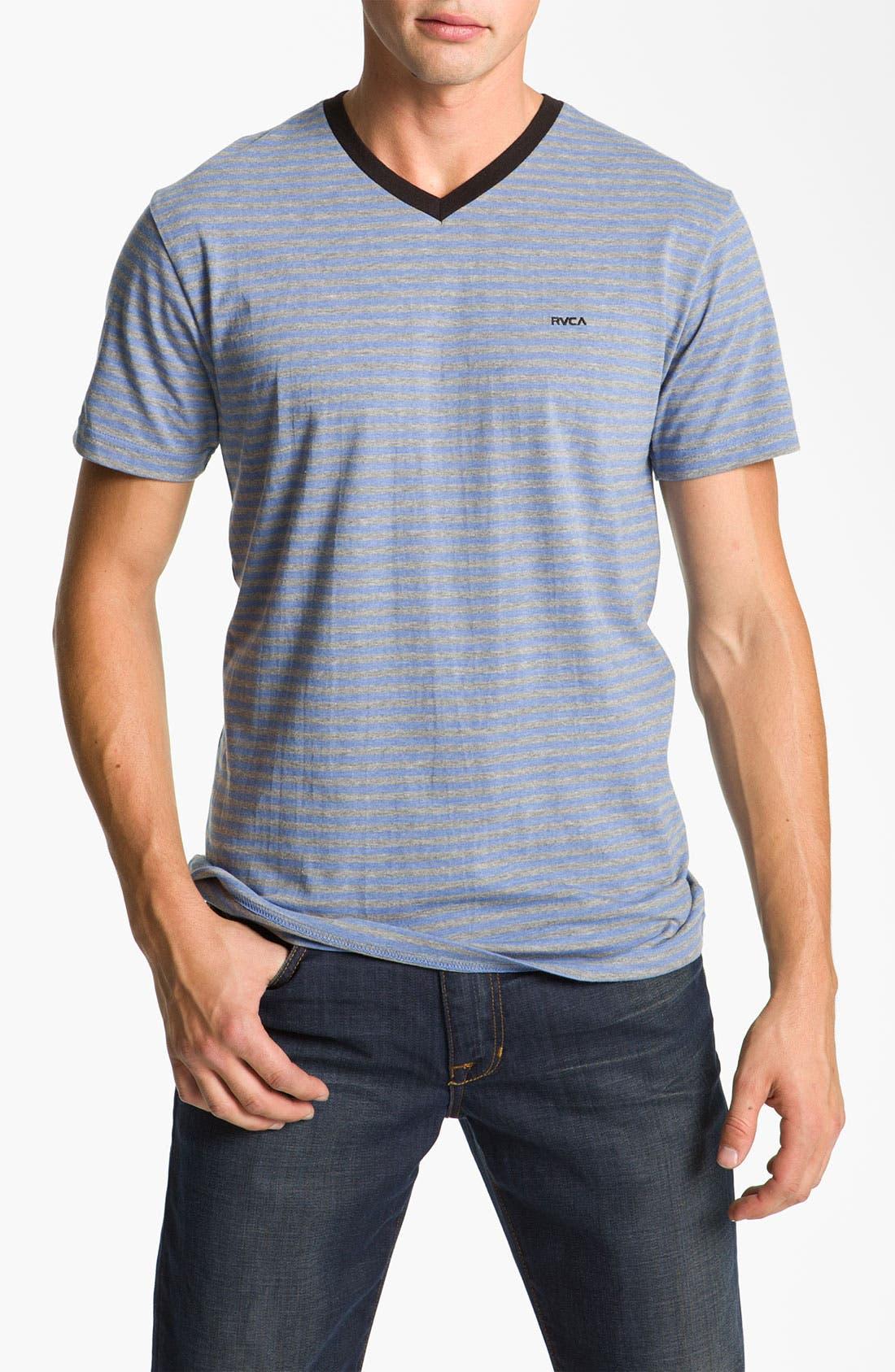 Main Image - RVCA 'Grain' Trim Fit V-Neck T-Shirt
