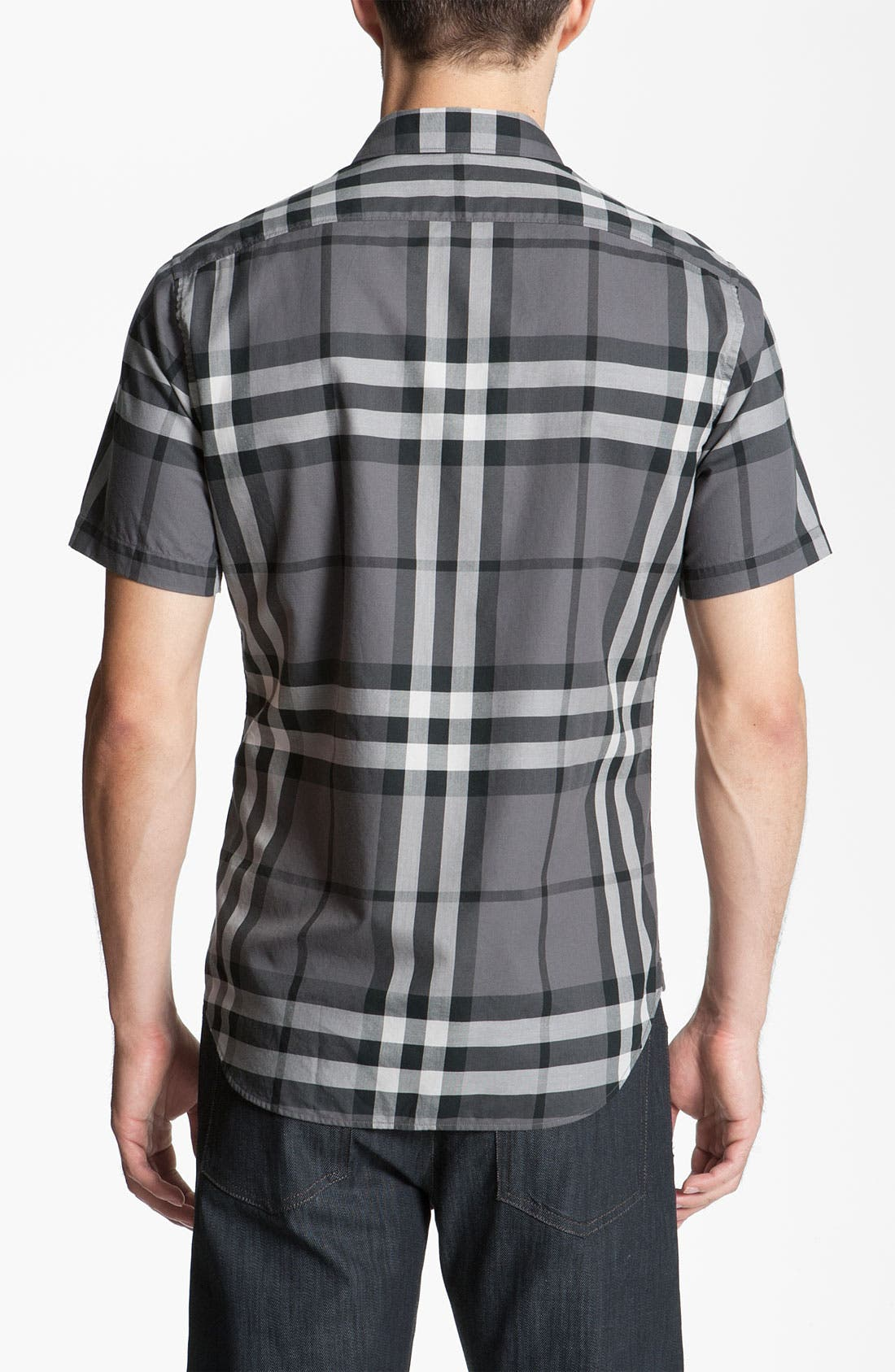 Alternate Image 2  - Burberry Brit Trim Fit Check Sport Shirt