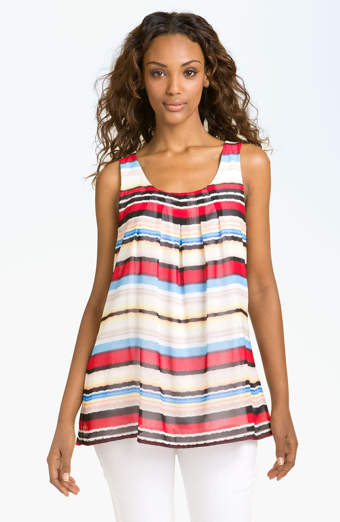 Alternate Image 1 Selected - Casual Freedom Print Layered Tank