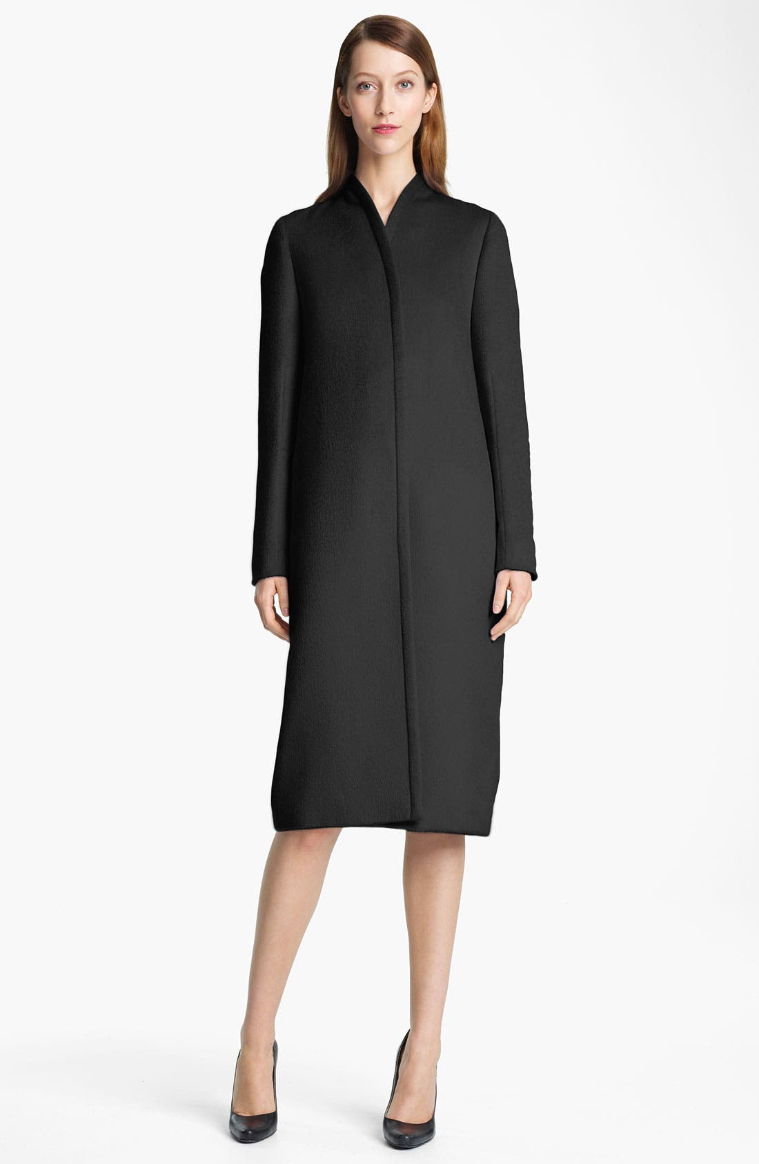 Alternate Image 1 Selected - Jil Sander Long Bonded Wool Coat
