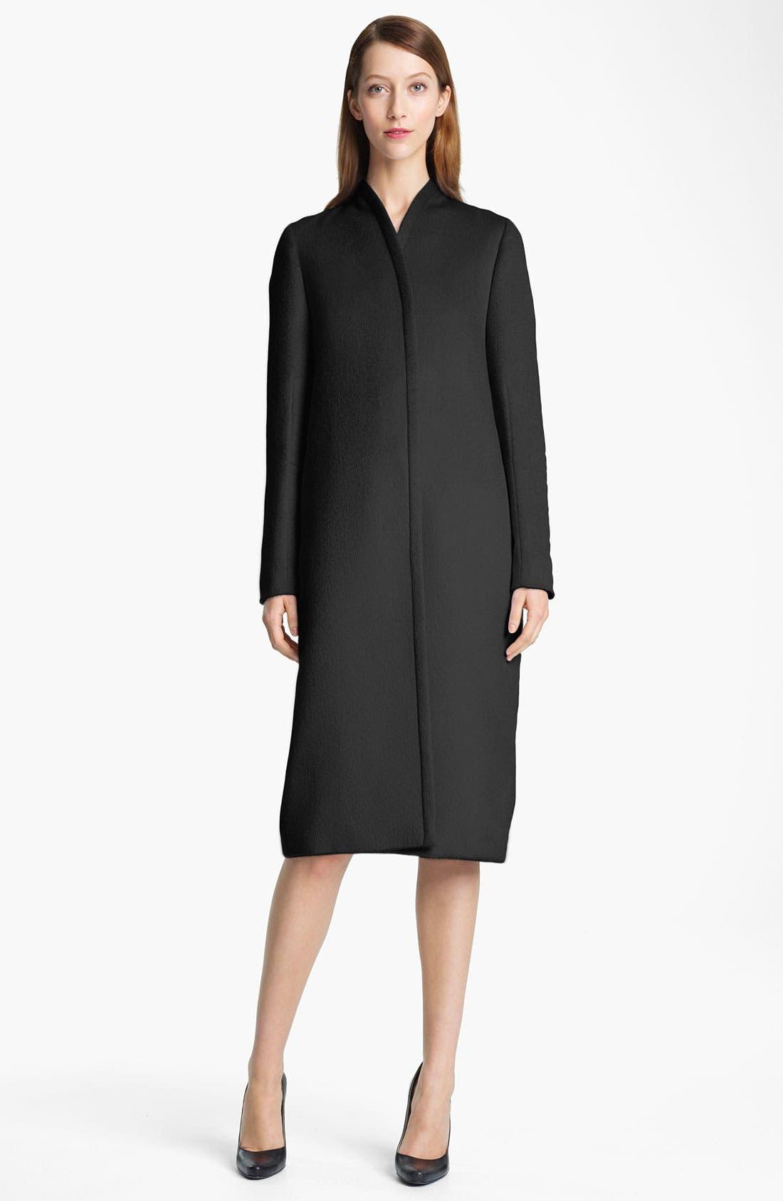 Main Image - Jil Sander Long Bonded Wool Coat