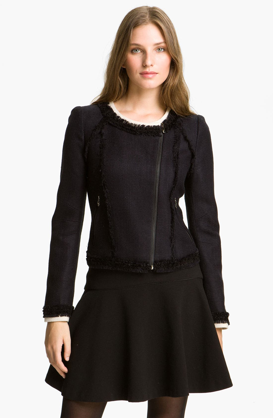 Main Image - Mcginn 'Sasha' Contrast Trim Tweed Jacket