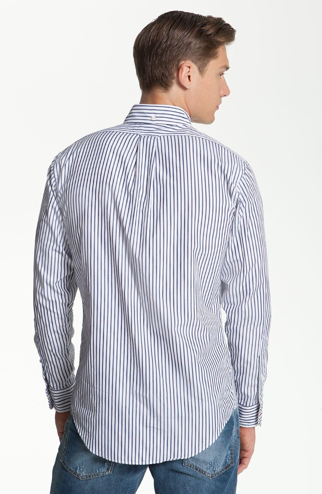 Alternate Image 2  - Brooks Brothers by Jeffrey Stripe Woven Shirt