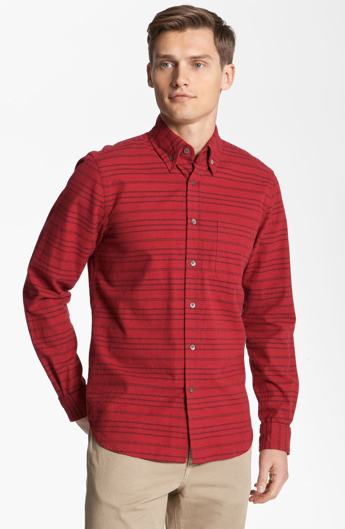 Alternate Image 1 Selected - Steven Alan 'Collegiate' Stripe Woven Shirt