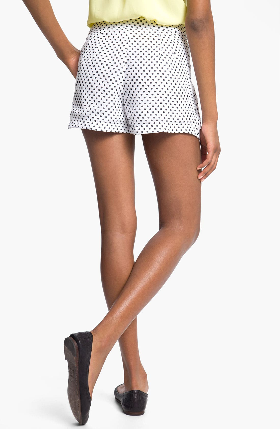 Alternate Image 2  - Mimi Chica Dot Shorts (Juniors)