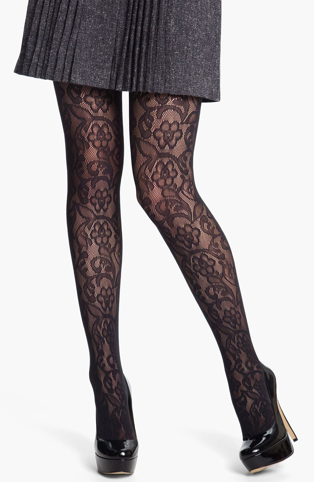 Alternate Image 1 Selected - DKNY Lace Net Tights