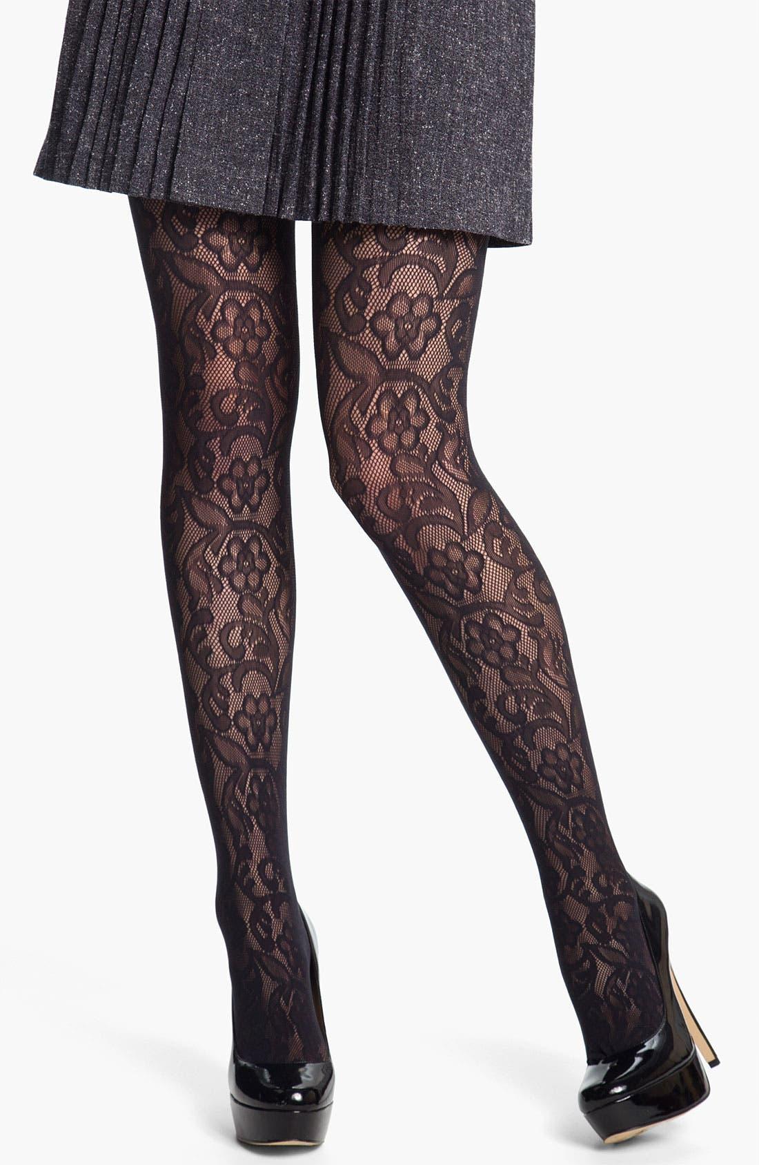 Main Image - DKNY Lace Net Tights