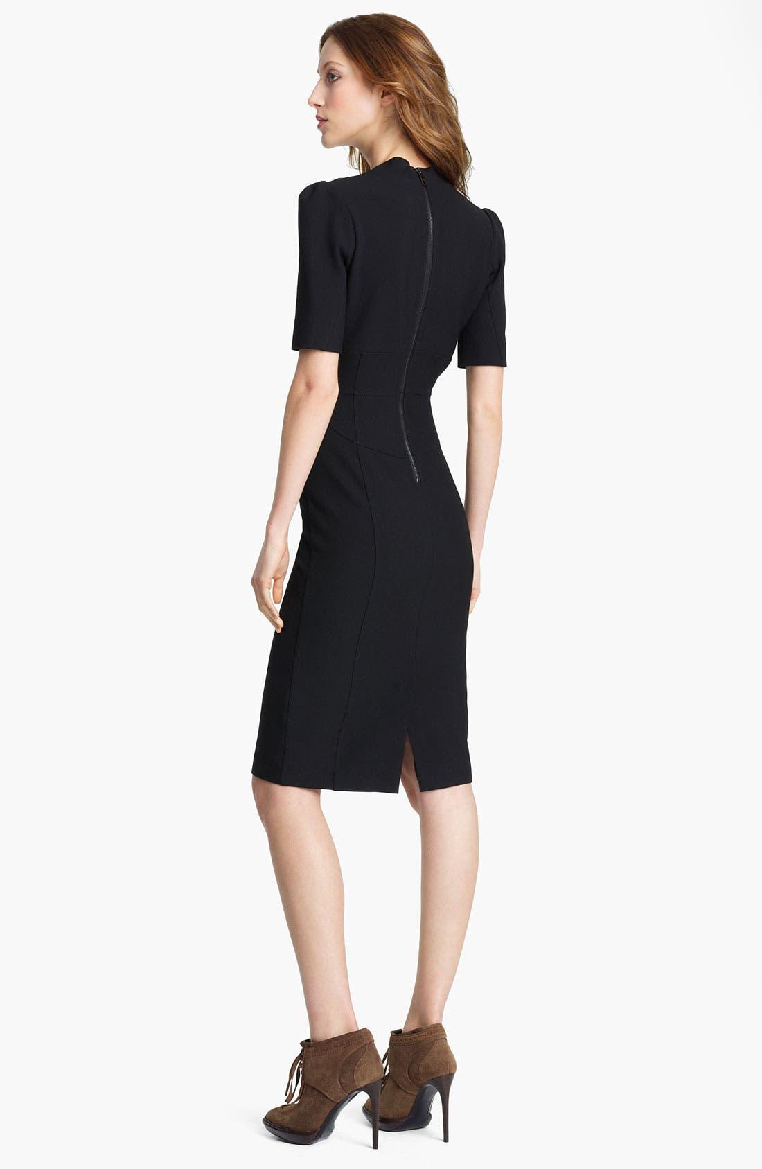 Alternate Image 2  - Burberry London V-Neck Woven Dress