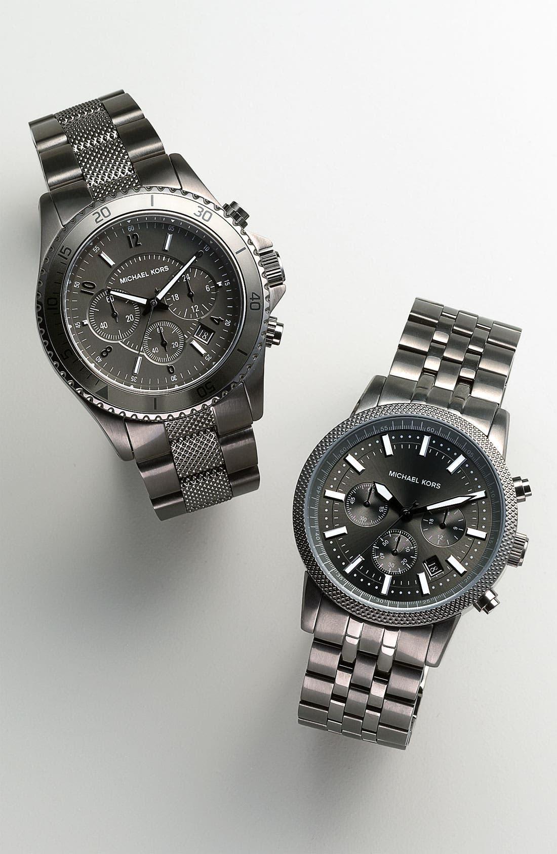 Alternate Image 2  - Michael Kors Chronograph Knurled Bracelet Watch