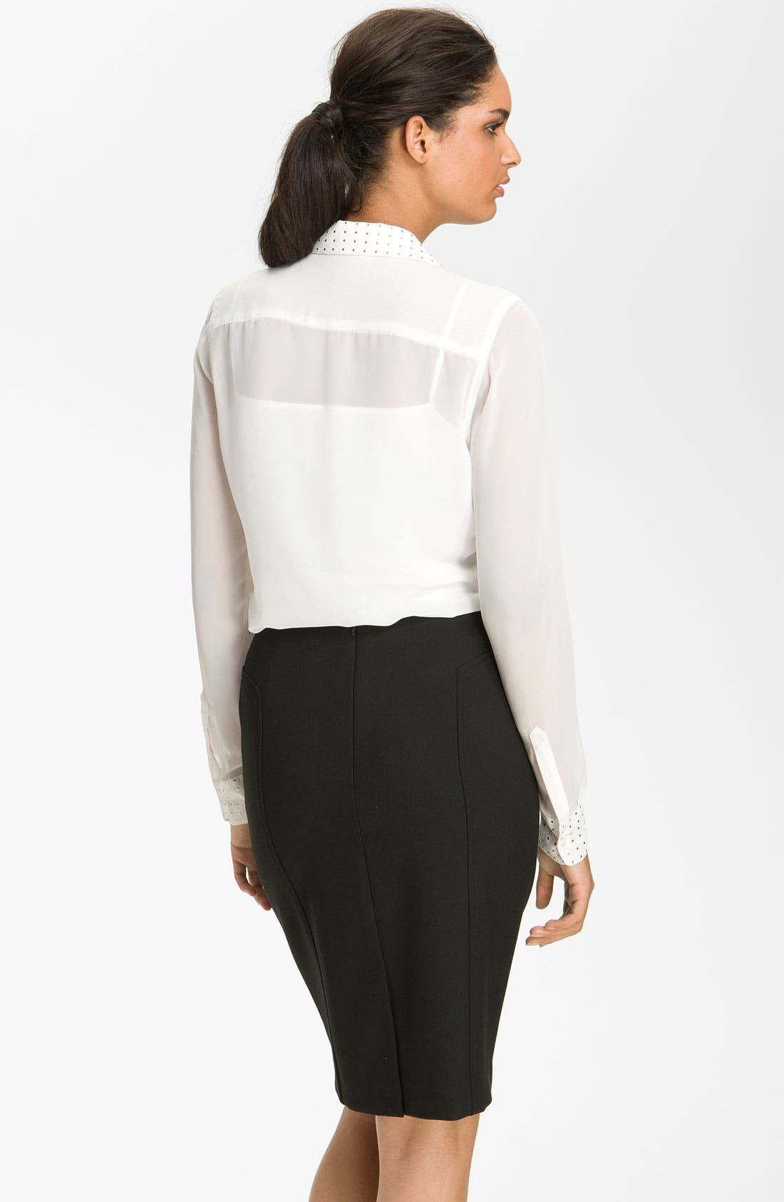 Alternate Image 2  - Vince Camuto Stud Detail Blouse