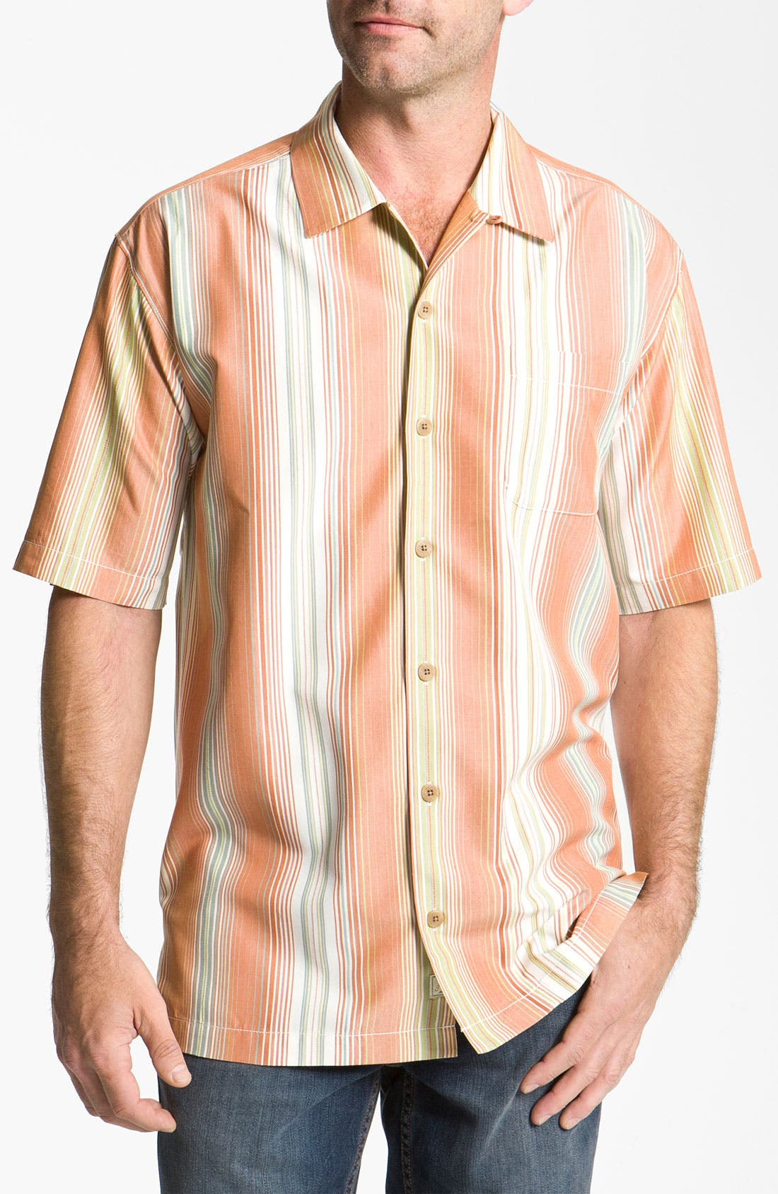 Alternate Image 1 Selected - Tommy Bahama 'Continental Divide' Silk Campshirt