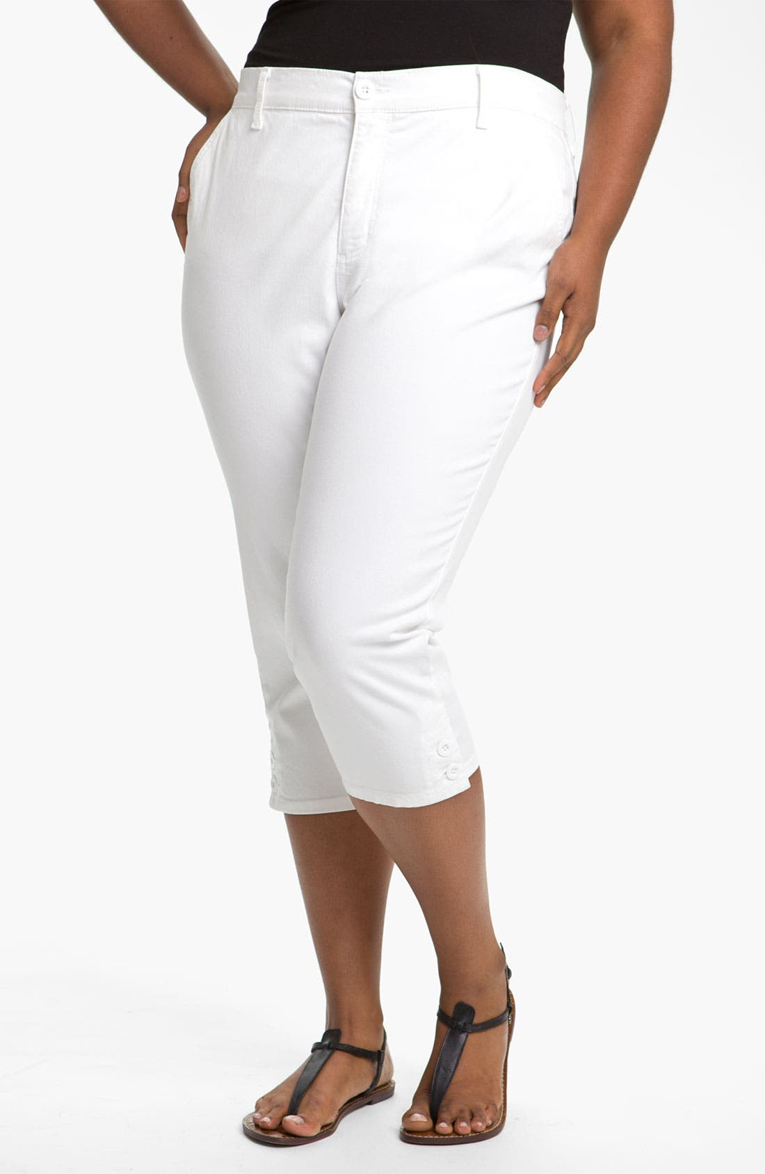 Main Image - NYDJ 'Sammie' Crop Stretch Jeans (Plus Size)