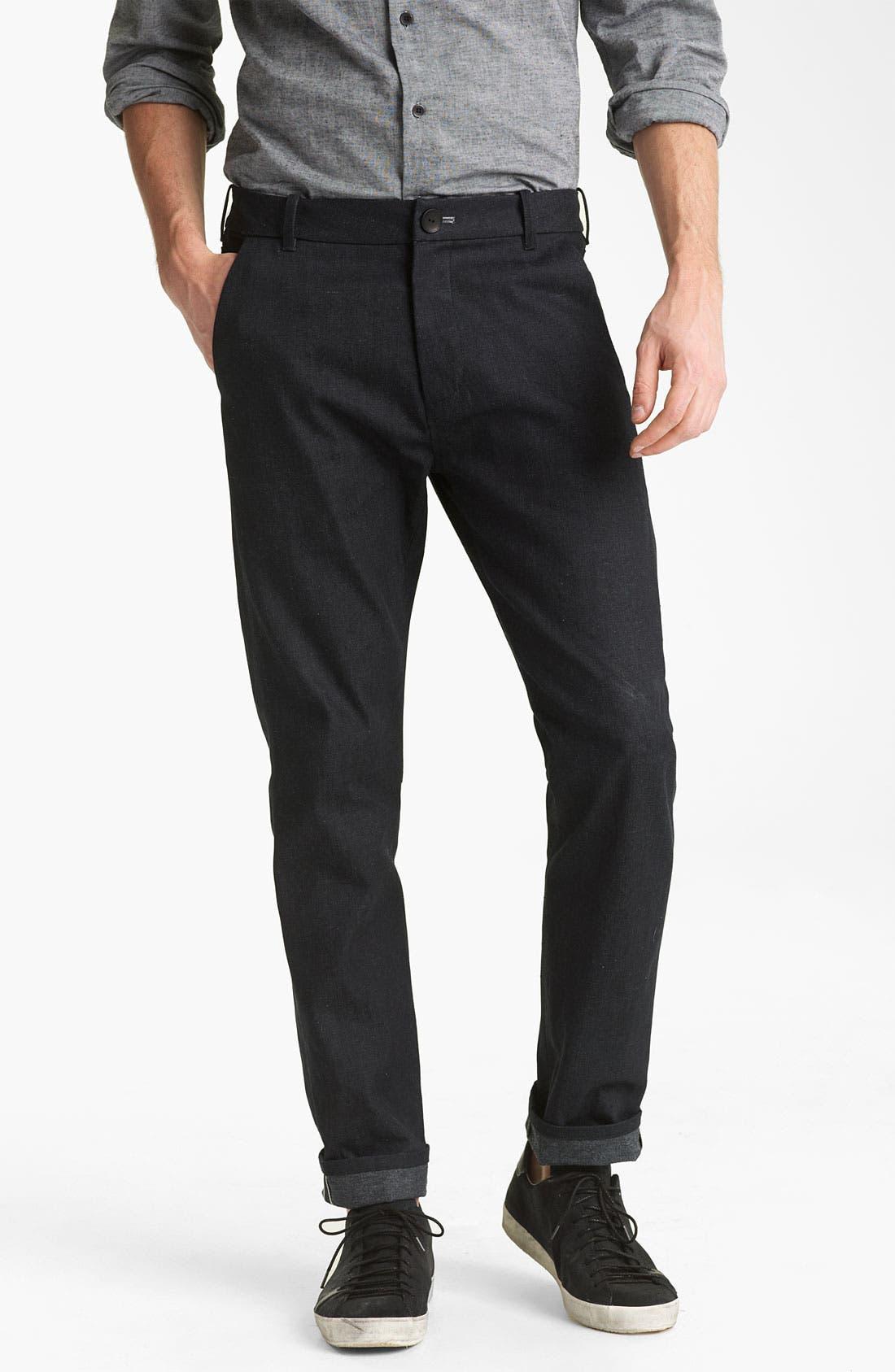 Alternate Image 2  - Rogan 'Tunnel' Tapered Trouser Jeans (Indigo)