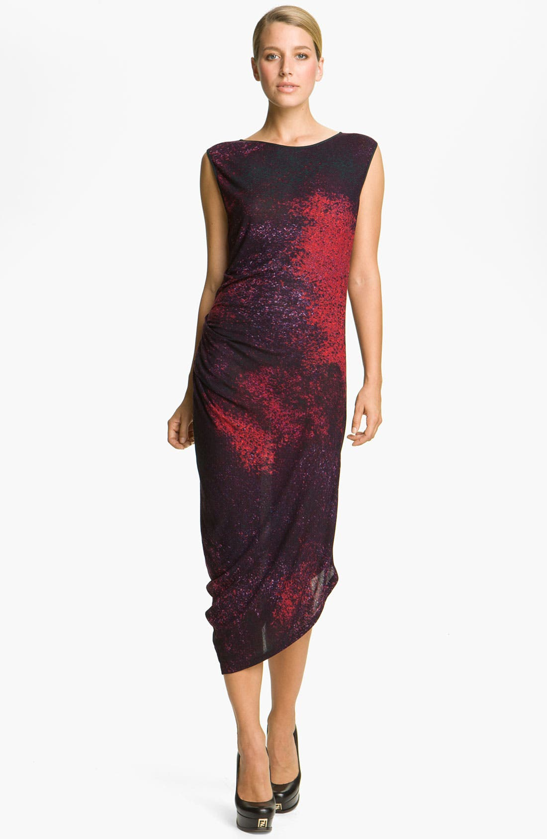 Alternate Image 1 Selected - Halston Heritage Abstract Print Jersey Dress