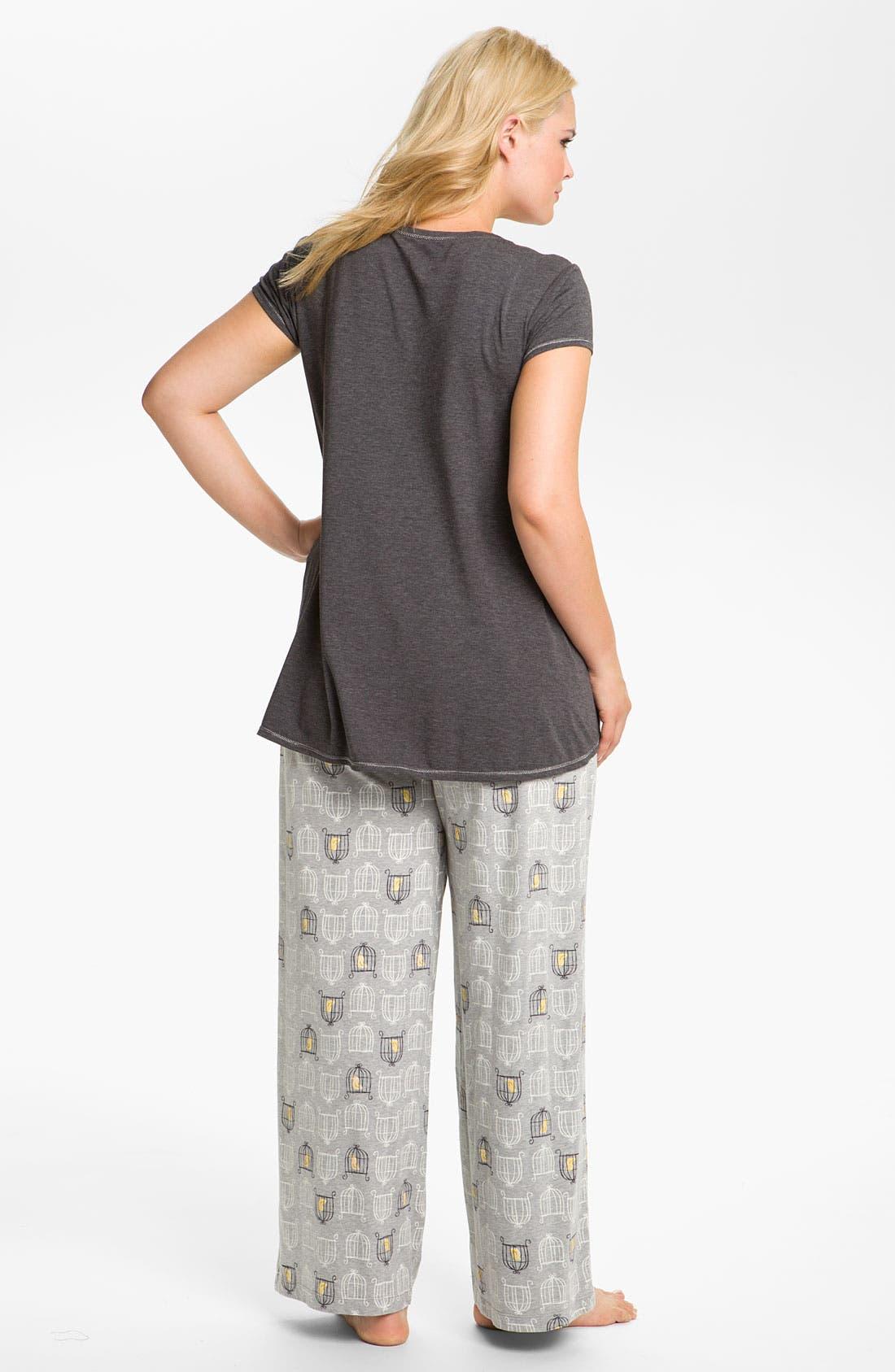 Alternate Image 5  - Hue 'Birdcage' Pajama Pants (Plus)