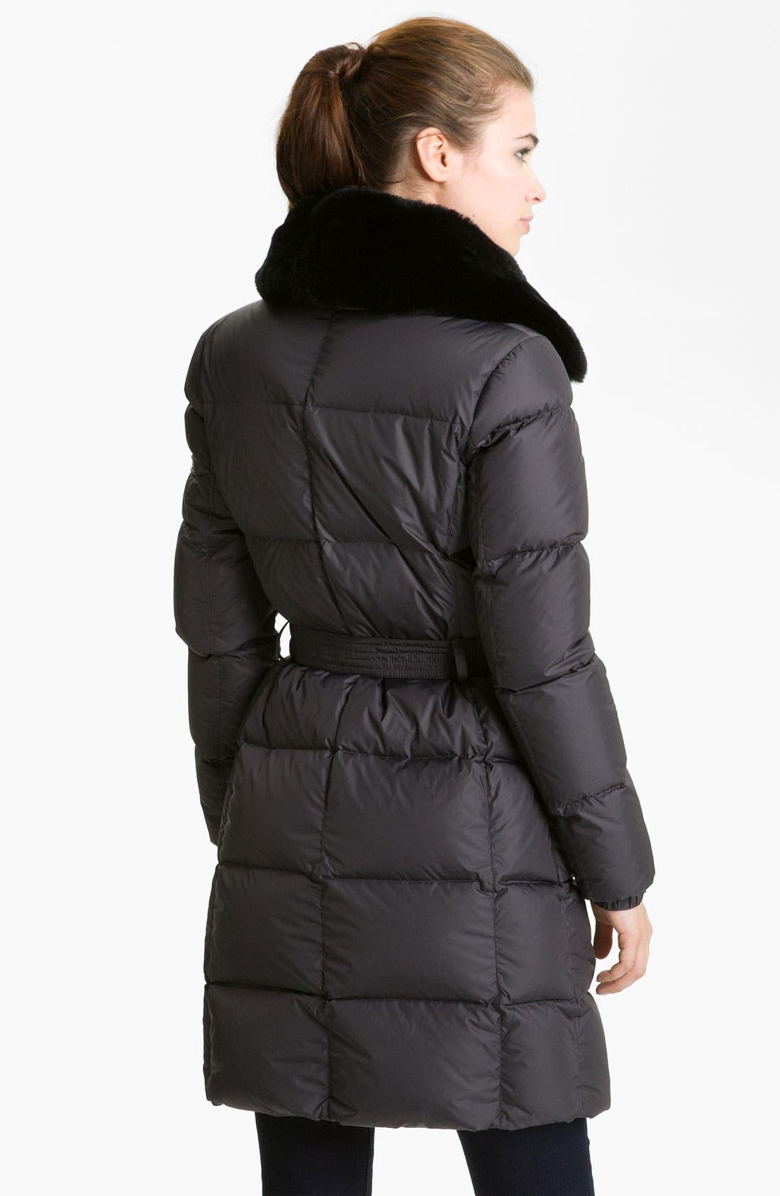 Alternate Image 2  - Add Down Faux Fur Trim Coat