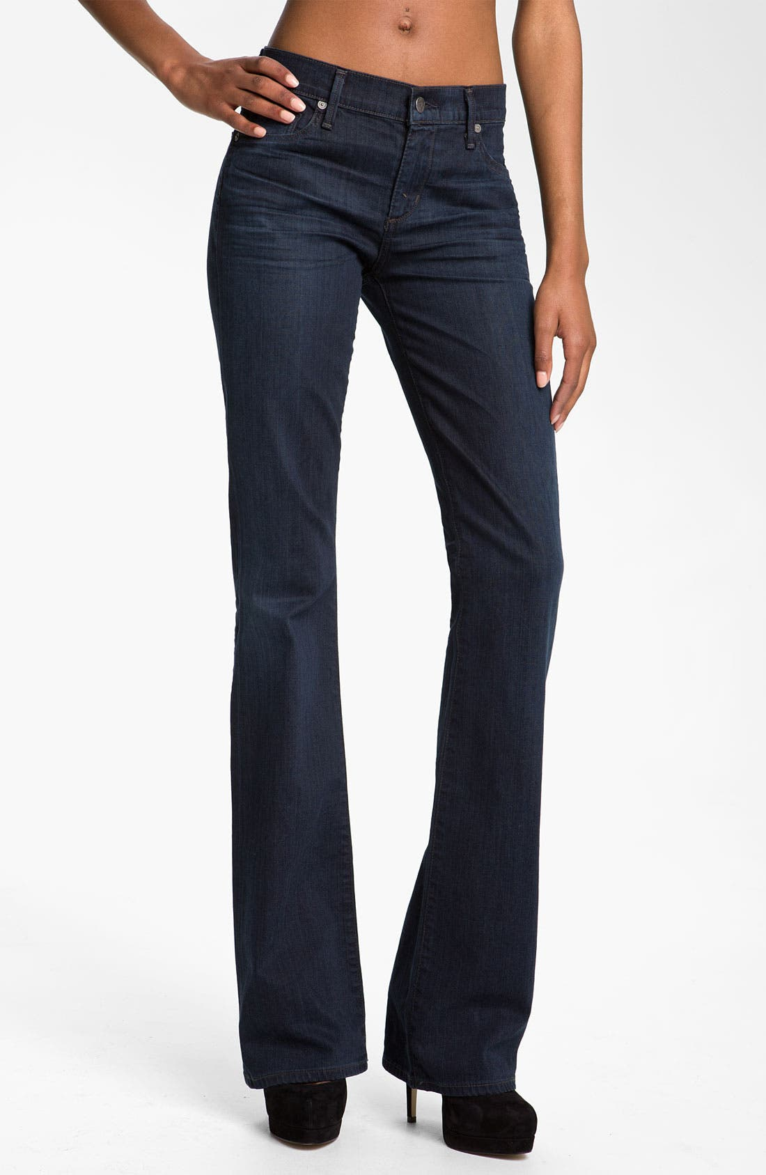 Main Image - Citizens of Humanity 'Amber' Mid Rise Bootcut Stretch Jeans (Dark Blue)