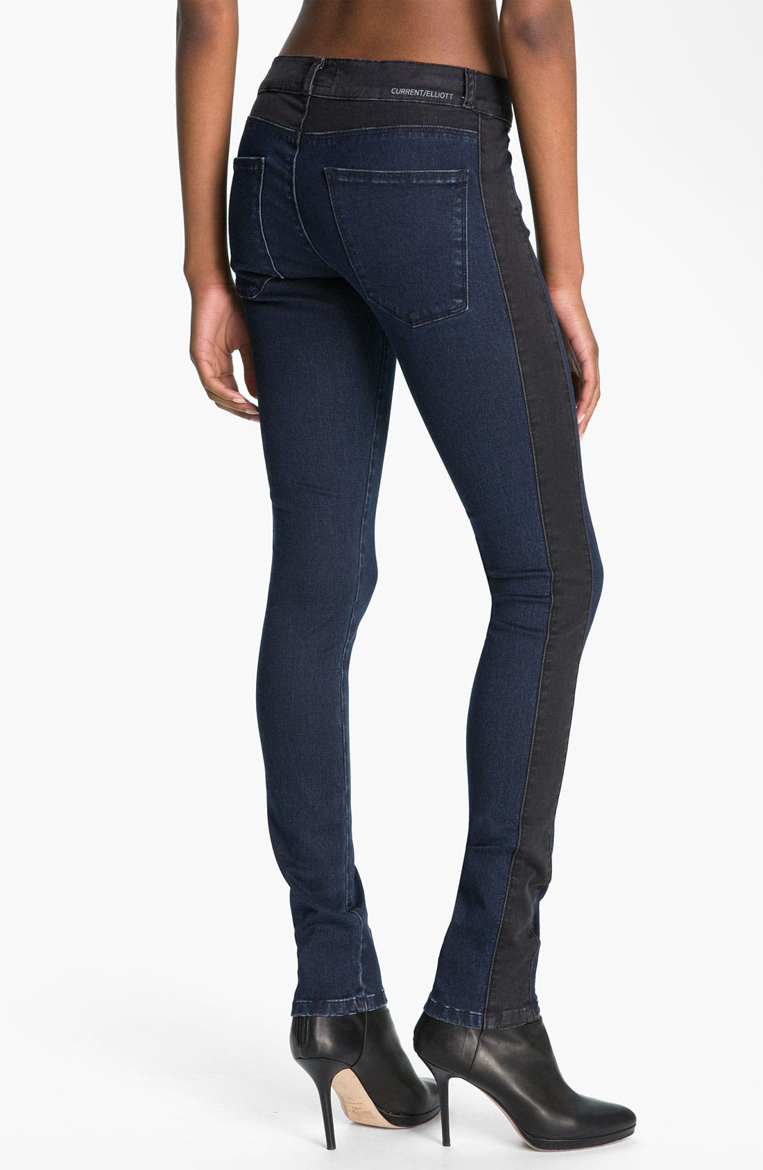 Alternate Image 2  - Current/Elliott 'The Rider' Panel Denim Leggings (Liberty)