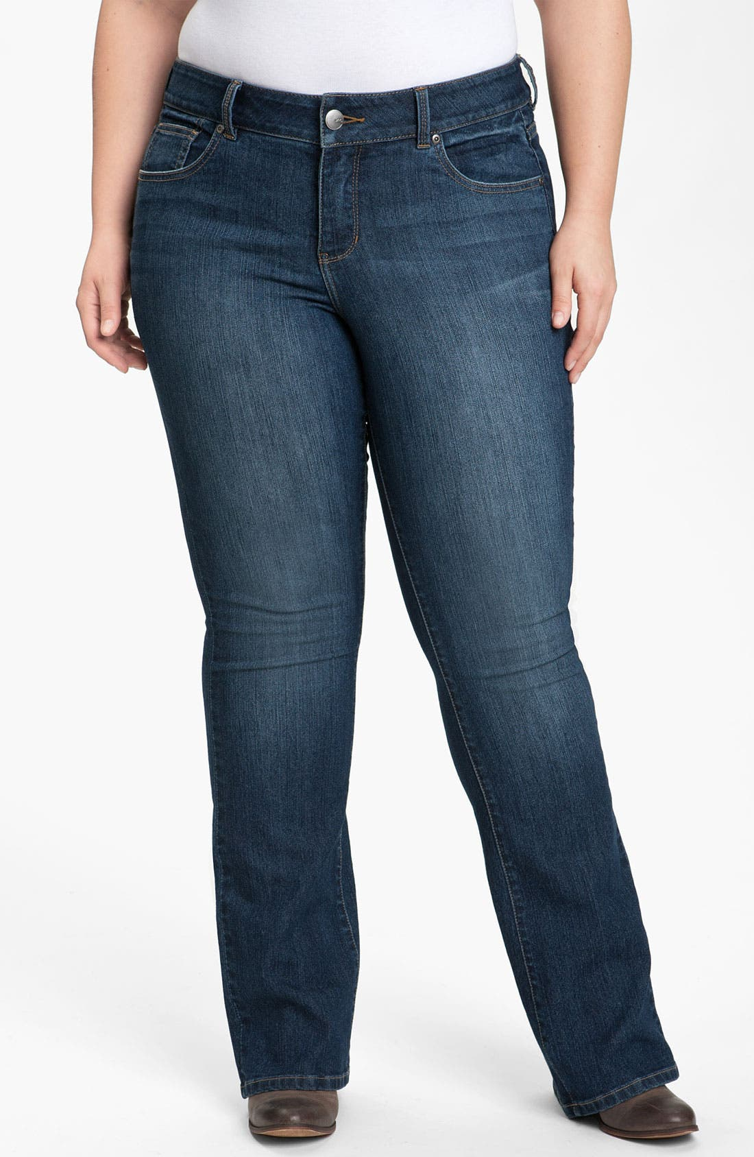 Alternate Image 1 Selected - Jag Jeans 'Lucy' Bootcut Jeans (Petite Plus) (Online Exclusive)