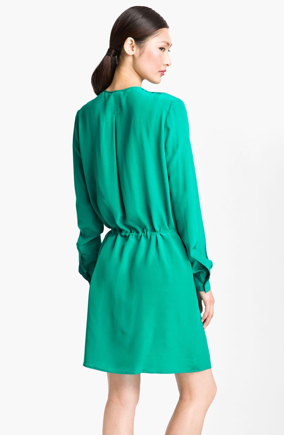 Alternate Image 2  - Suzi Chin for Maggy Boutique Pintuck Silk Shirtdress