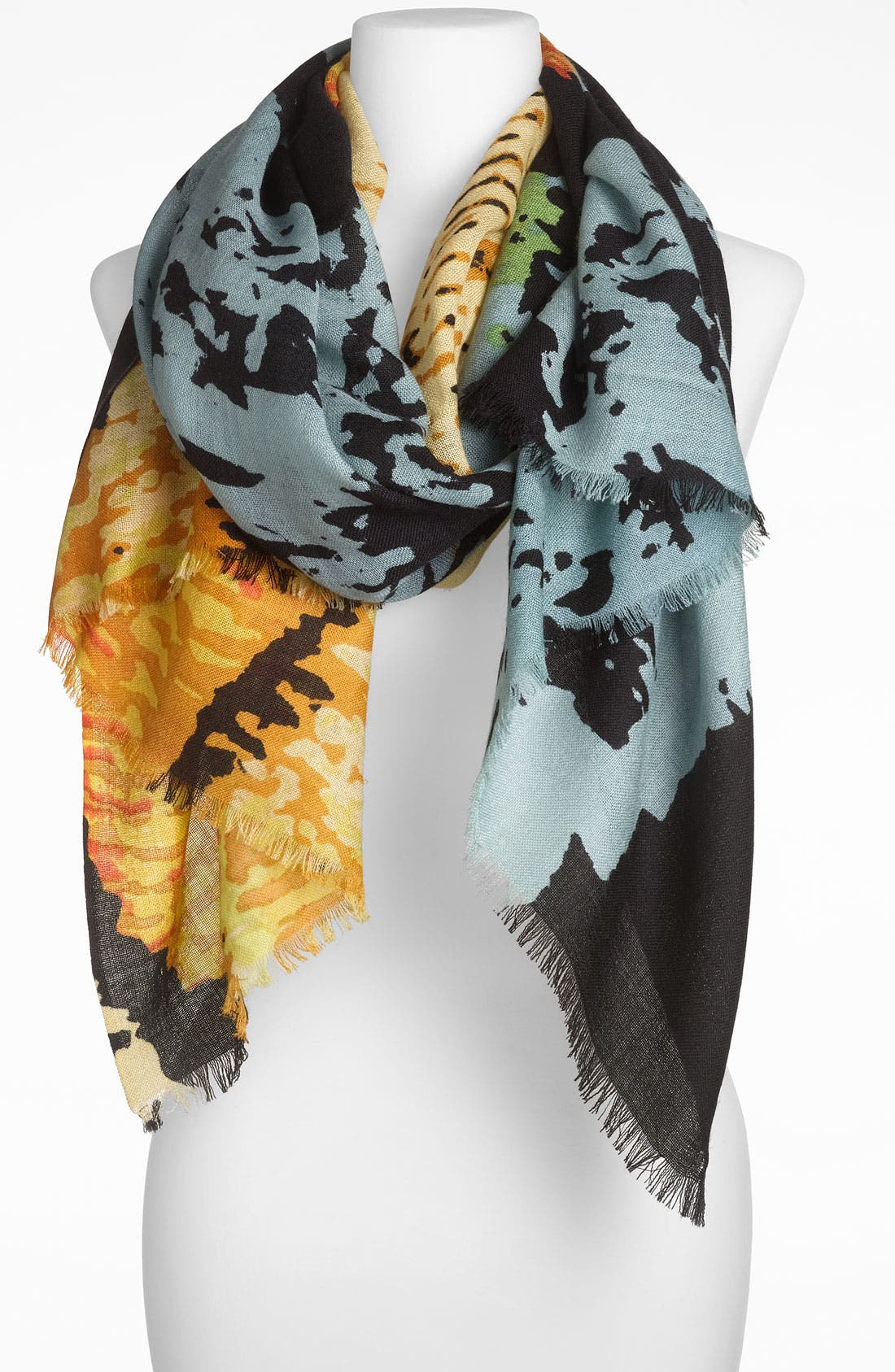 Main Image - Janie Besner Distressed Abstract Scarf