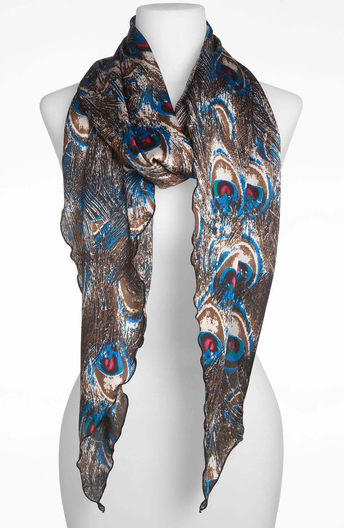 Alternate Image 1 Selected - Collection XIIX 'Feathery Flock' Oblong Scarf