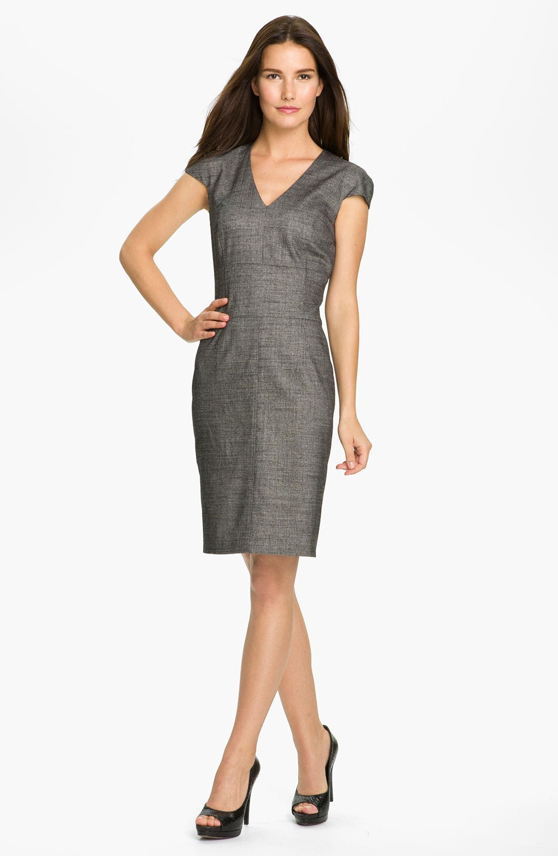 Alternate Image 1 Selected - BOSS Black 'Dillu' V-Neck Sheath Dress